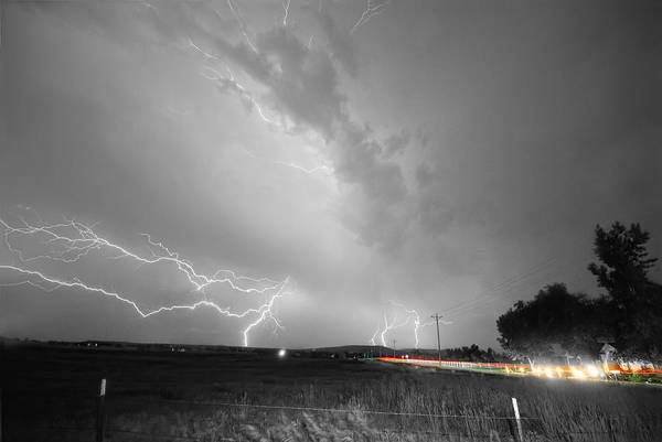 Photograph - Woodland Lightning Thunderstorm View Bwsc by James BO Insogna