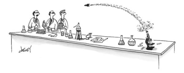 Experiment Drawing - New Yorker March 2nd, 2009 by Tom Cheney