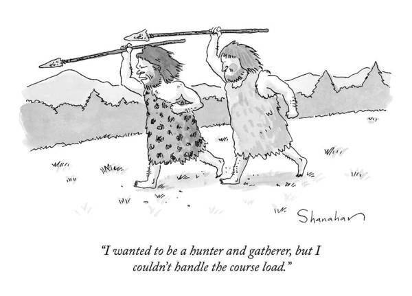 Hunting Drawing - New Yorker September 21st, 2009 by Danny Shanahan