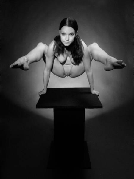 Photograph - 7717 Bw Studio Nude Flexible Kajira by Chris Maher