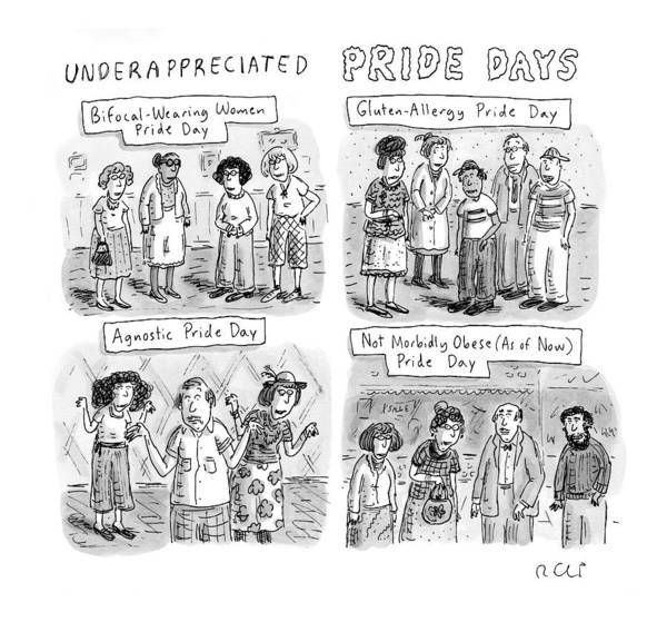 Gluten Drawing - New Yorker July 6th, 2009 by Roz Chast
