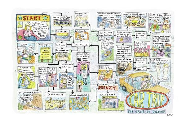Auto Drawing - Car Trip by Roz Chast