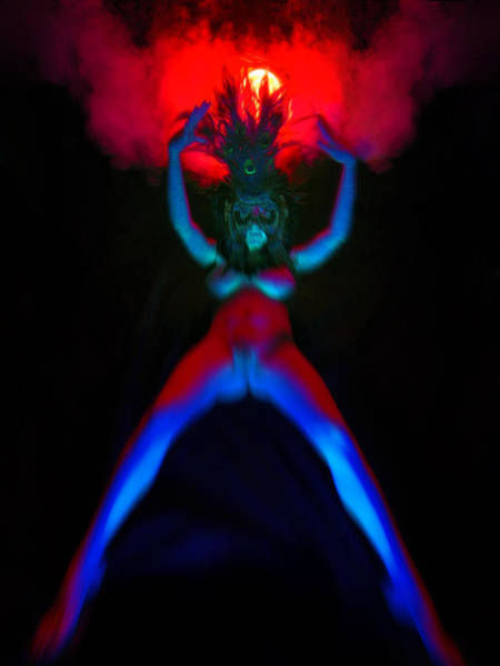 Photograph - 7926 Fire And Ice Abstract Masked Nude by Chris Maher