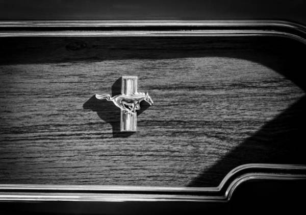 Ford Mustang Photograph - 1969 Ford Mustang Mach 1 Emblem by Jill Reger