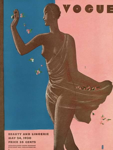 Photograph - A Vintage Vogue Magazine Cover Of A Woman by Eduardo Garcia Benito