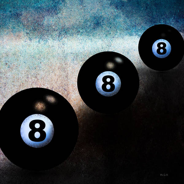 Photograph - 8 Ball Times Three by Bob Orsillo