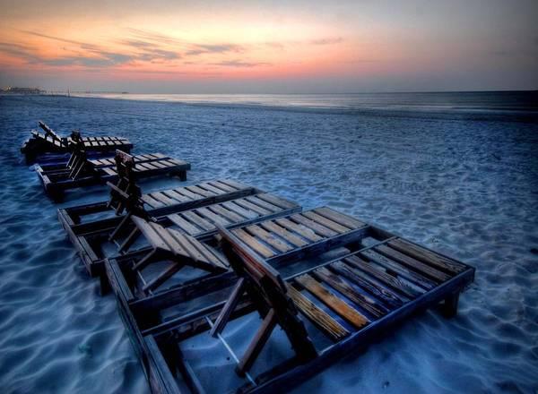 Digital Art - 8 Beach Chairs by Michael Thomas