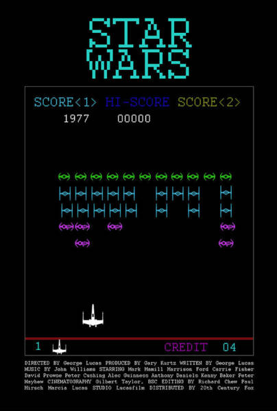 Jedi Digital Art - 8-bit Arcade by Edgar Ascensao