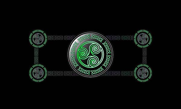 Wall Art - Digital Art - Celtic Triskele by Ireland Calling