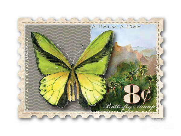 Painting - 8 Cent Butterfly Stamp by Amy Kirkpatrick
