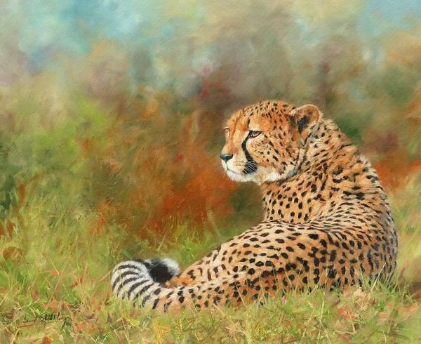 Savannah Painting - Cheetah by David Stribbling