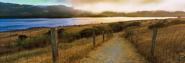 Woodside Photograph - Dirt Road Passing Through A Landscape by Panoramic Images