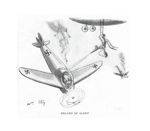 Pilots Drawing - Dreams Of Glory by William Steig
