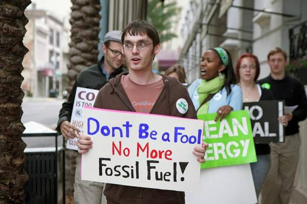 Placard Photograph - Environmental Protest by Jim West