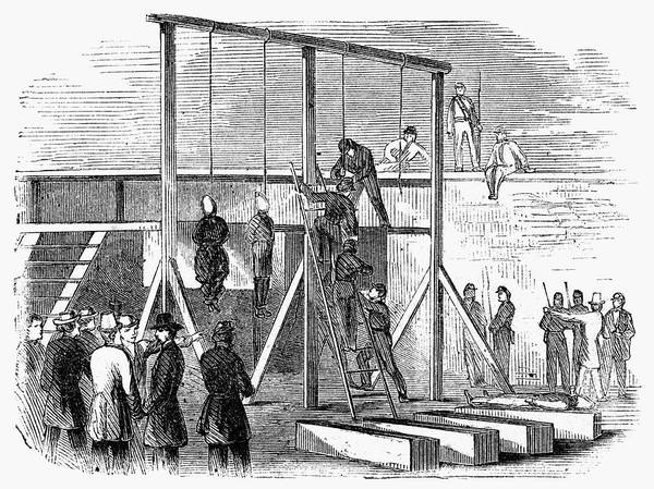 Scaffold Painting - Execution Of Conspirators by Granger