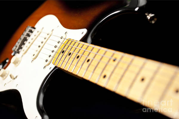 Fret Board Photograph - Fender Stratocaster Electric Guitar Artistic by Jani Bryson
