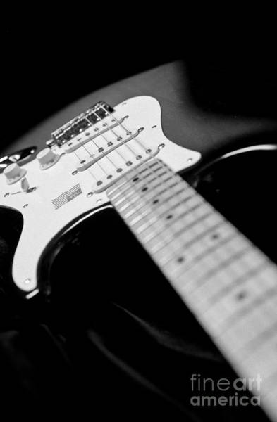 Fret Board Photograph - Fender Stratocaster Electric Guitar Black And White by Jani Bryson