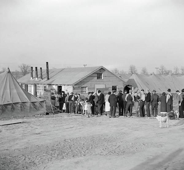 Dog Walker Photograph - Flood Refugees, 1937 by Granger