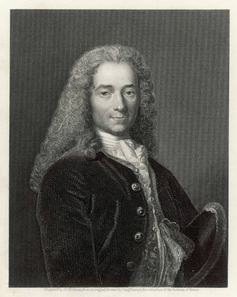 Wall Art - Drawing - Francois-marie Arouet (1694 - 1778) by Mary Evans Picture Library