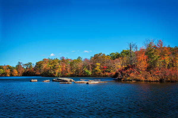 Fallen Leaf Lake Photograph - Green Pond Morris County New Jersey Painted by Rich Franco