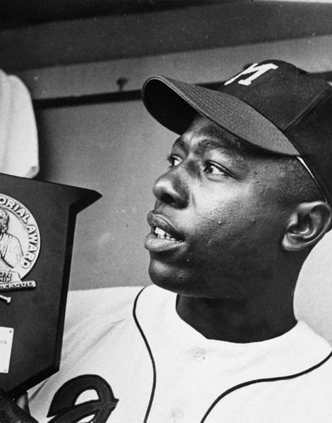 National Baseball Hall Of Fame Photograph - Hank Aaron by Retro Images Archive