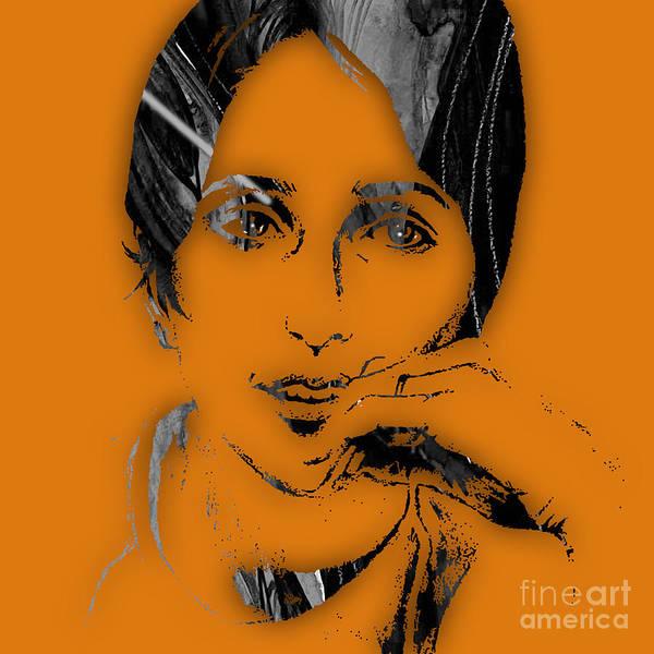 Folk Singer Mixed Media - Joan Baez Collection by Marvin Blaine