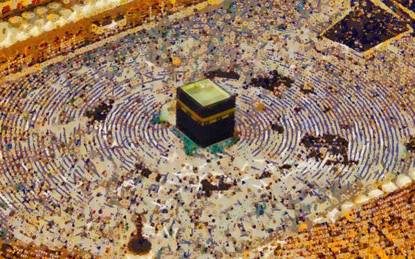 Mosque Digital Art - Kabah / Kaaba by Islamprint Dotcom