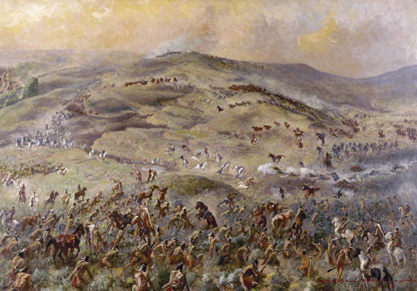 Wall Art - Painting - Little Bighorn, 1876 by Granger