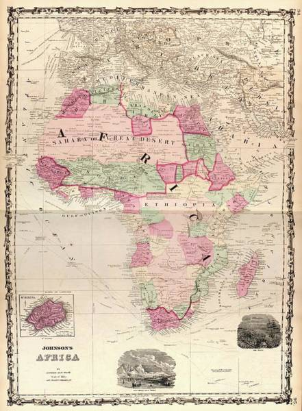 Port Orange Photograph - Map Of Africa by Library Of Congress, Geography And Map Division