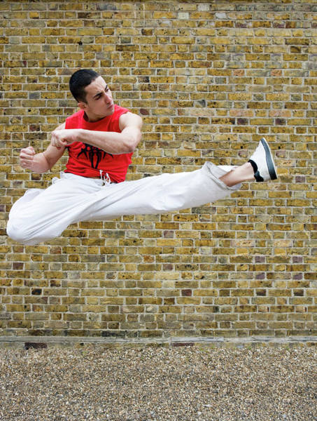 Wall Art - Photograph - Martial Arts Kick by Gustoimages/science Photo Library