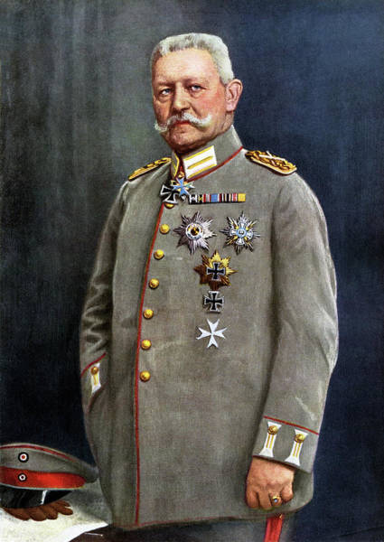 Wall Art - Drawing - Paul Von Hindenburg  German General by Mary Evans Picture Library