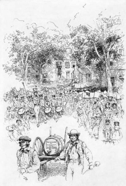 Wall Art - Drawing - Presidential Campaign, 1840 by Granger