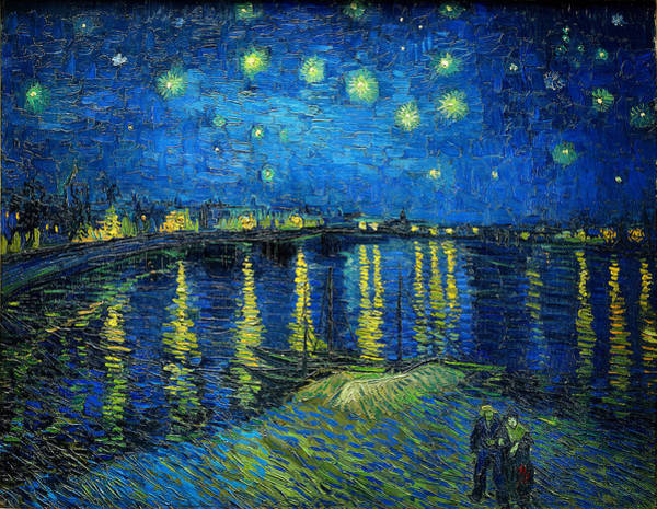 Wall Art - Painting - Starry Night Over The Rhone by Vincent van Gogh