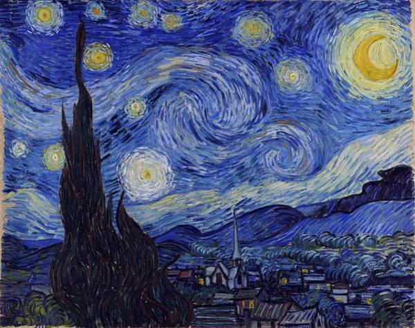 Digital Art - Starry Night by Vincent Van Gogh