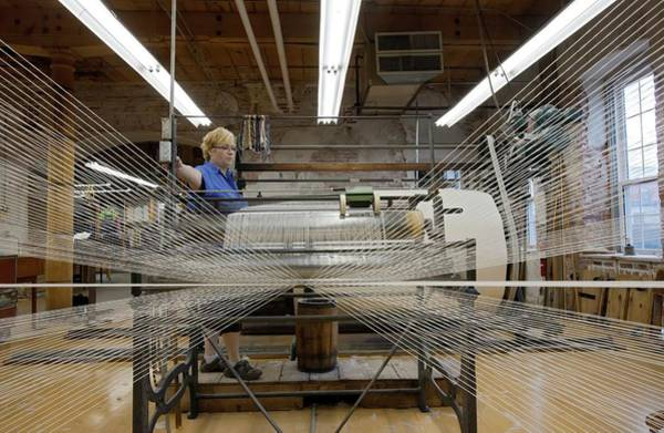 Textile Mill Photograph - Textile Mill Warping Creel by Jim West