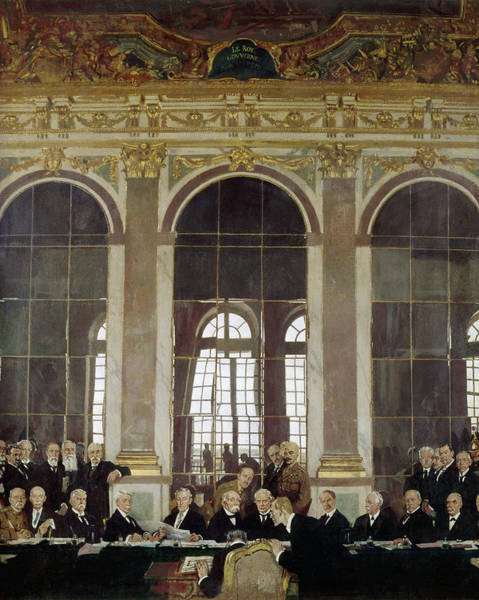 Wall Art - Painting - Treaty Of Versailles, 1919 by Granger