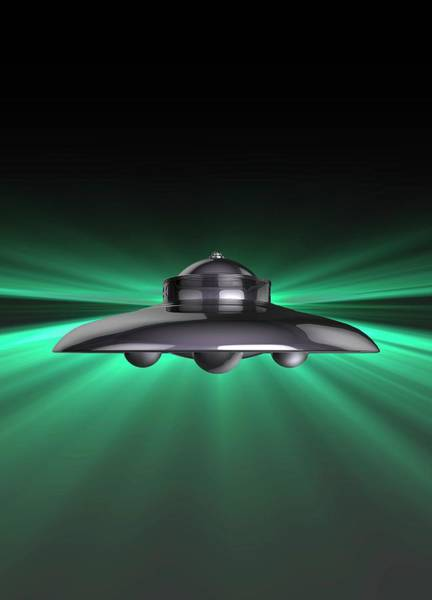 Ufology Photograph - Ufo by Victor Habbick Visions/science Photo Library