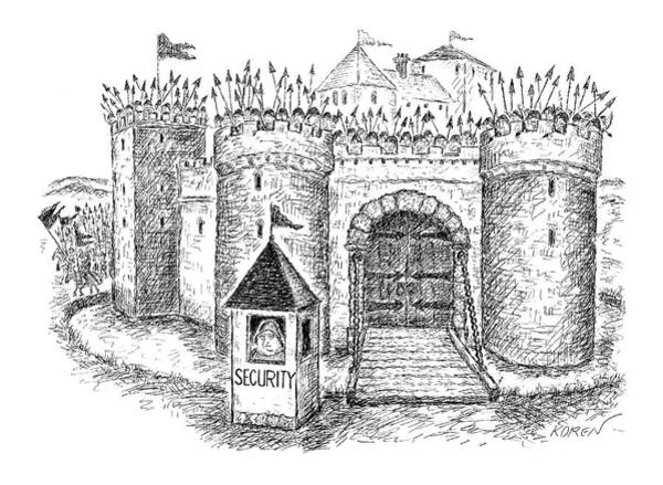 Gate Drawing - New Yorker May 23rd, 2005 by Edward Koren