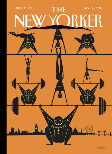 Sport Painting - New Yorker August 6th, 2012 by Frank Viva