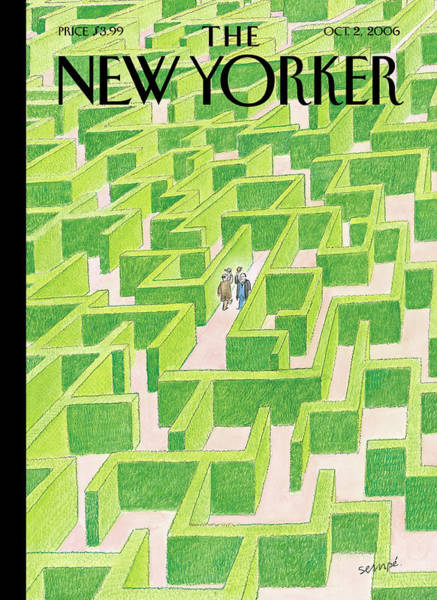 Men Painting - New Yorker October 2nd, 2006 by Jean-Jacques Sempe