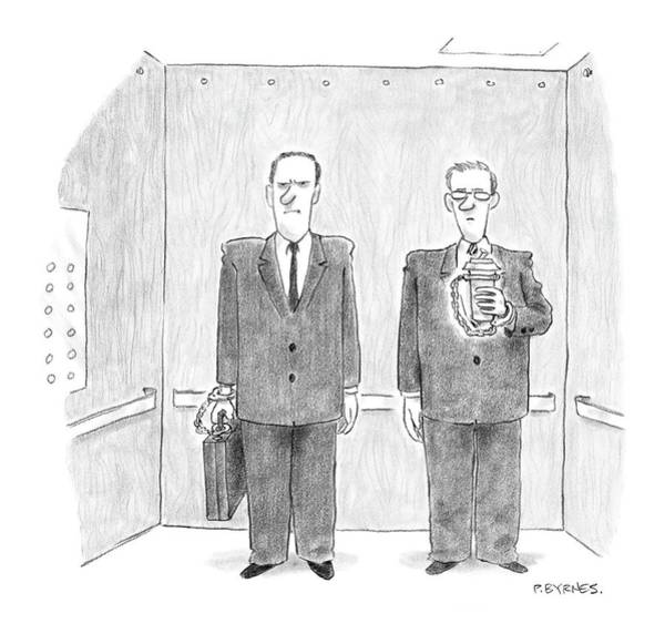 Briefcase Drawing - New Yorker February 7th, 2005 by Pat Byrnes