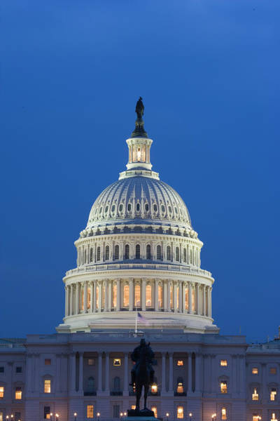 Capitol Building Photograph - Usa, Washington, D by Jaynes Gallery