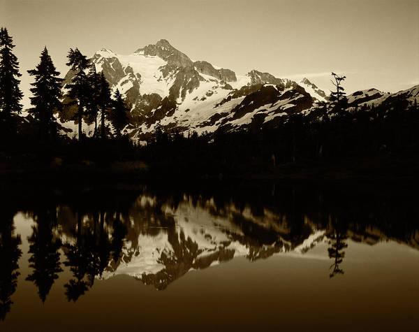 Alpenglow Photograph - Usa, Washington State, North Cascades by Adam Jones