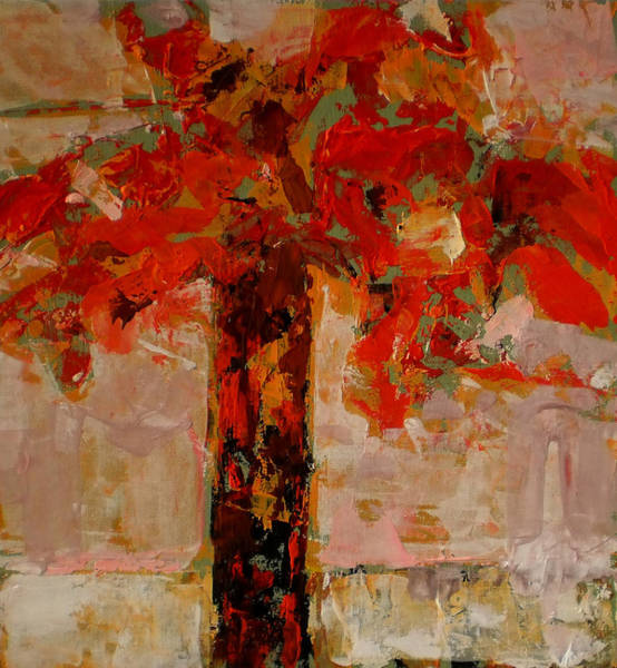Wall Art - Painting - Vase With Flowers by Vladimir Vlahovic