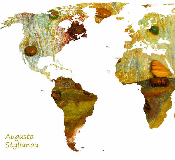 Digital Art - Abstract Map by Augusta Stylianou