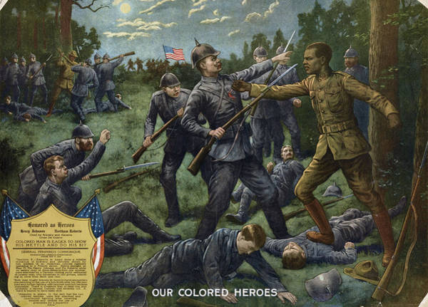 Wall Art - Painting - Wwi Soldiers, 1918 by Granger
