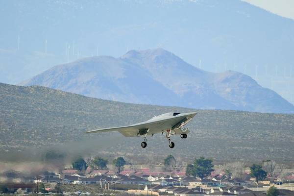Military Air Base Photograph - X-47b Unmanned Combat Air Vehicle by Us Air Force