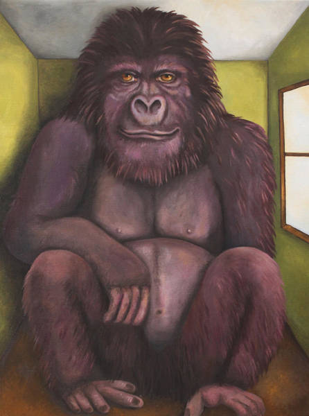 Wall Art - Painting - 800 Pound Gorilla In The Room Edit 4 by Leah Saulnier The Painting Maniac
