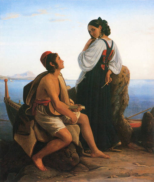 Painting - A Girl From Procida by Louis Leopold Robert