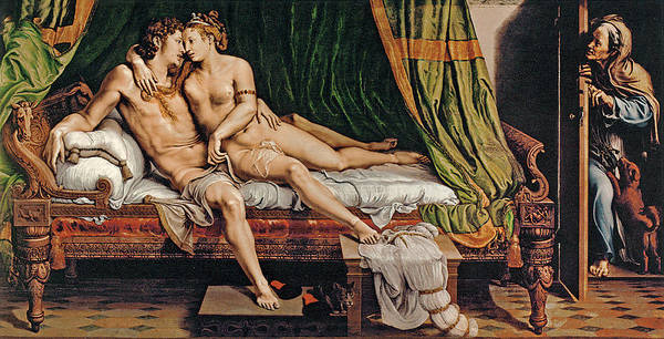 Painting - Two Lovers by Giulio Romano